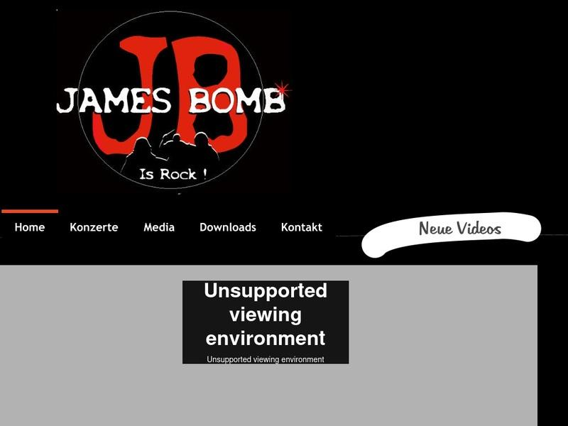 Screenshot von james-bomb.de
